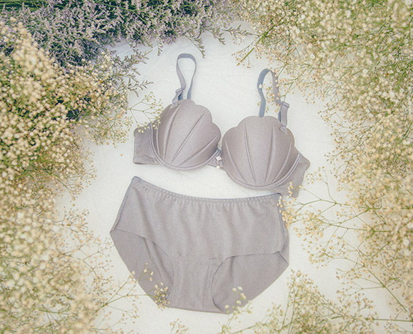 マーメイドbra + pantie set  -  grey