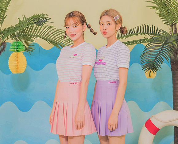 LEEGONG POOL PARTY tropical smoothie skirt