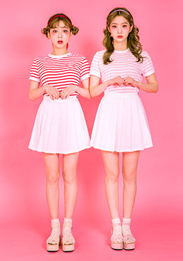 strawberry milk.sweet girl skirt