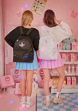 pink cafe back pack