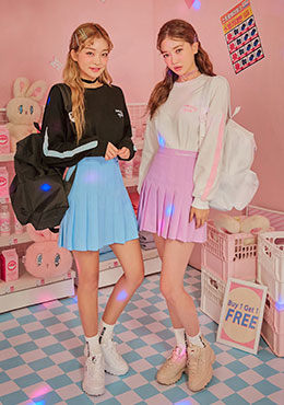 pink cafe tennis skirt