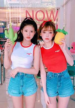 strawberry milk.strawberry fighter sleeveless