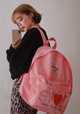 Estherloveschuu in love backpack