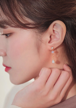 [CHUU]Bouquet Pearl Drop Earring