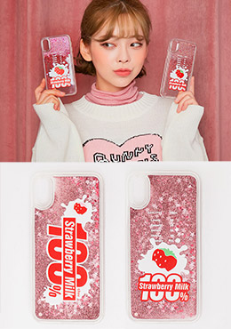 strawberry milk. strawberry 100% phone case